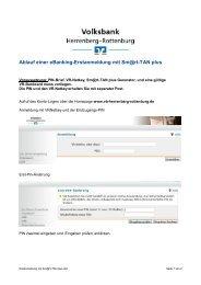 Ablauf einer eBanking-Erstanmeldung mit Sm@rt-TAN plus