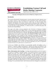 Establishing Custom Calf and Heifer Raising Contracts