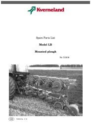 Spare Parts List Model LB Mounted plough - Hjallerup ...