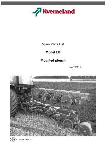 Spare Parts List Model LB Mounted plough - Hjallerup ...
