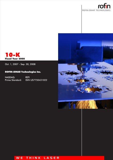Form 10K - Rofin