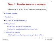Tema 1: Distribuciones en el muestreo