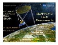 SMAP SMAPVEX12: PALS Measurements
