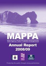 MAPPA Report - April 2008 - March 2009 - Dorset Police