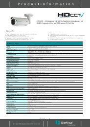 EZH 5242 – 2.0 Megapixel Full HDcctv Tag/Nacht ... - Pro-4-Pro