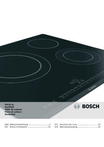 PKC8..N.. Kochfeld Table de cuisson Piano di cottura ... - Innova