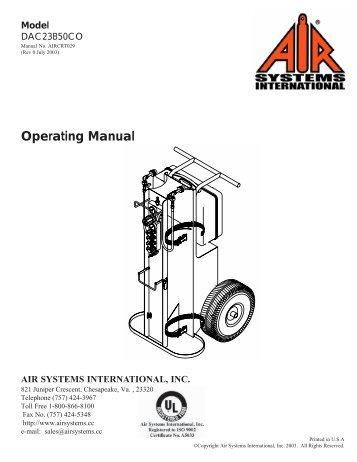 Operating Manual Model - Air Systems International