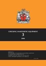 Checking Anaesthetic Equipment - aagbi