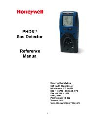 PHD6™ Gas Detector Reference Manual - Honeywell Safety