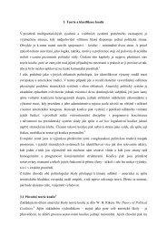 3. Teorie a klasifikace koalic V prostředí multipartistických systémů a ...