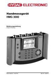 HMG 3000 Bedienungsanleitung - HYDAC