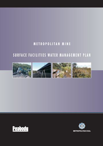 surface facilities water management plan - Peabody Energy