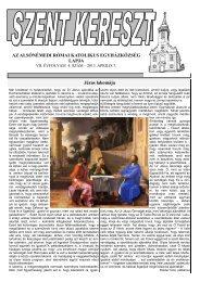 Szent Kereszt újság 2013. április - Alsónémedi