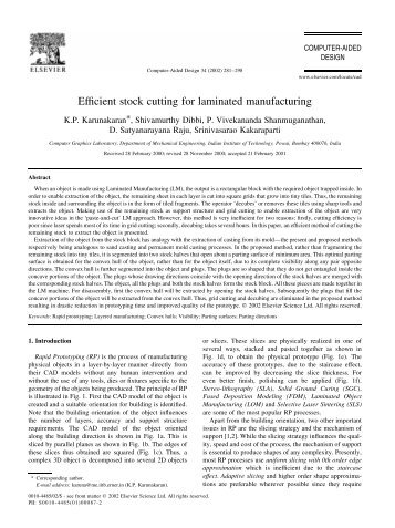 Efficient stock cutting for laminated manufacturing - World Lasers, Inc.