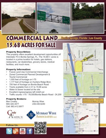 CommerCial land 15.68 aCres For sale - Murray Wise Associates