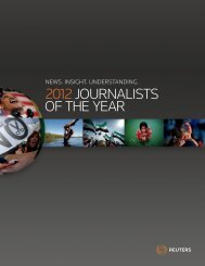 2012JOURNALISTS OF THE YEAR - Thomson Reuters