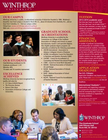Graduate School Profile (pdf) - Winthrop University