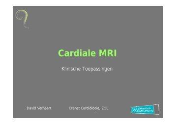 Cardiale MRI: klinische toepassingen