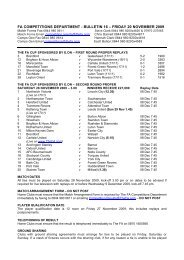 fa competitions department - bulletin 16 – friday 20 november 2009