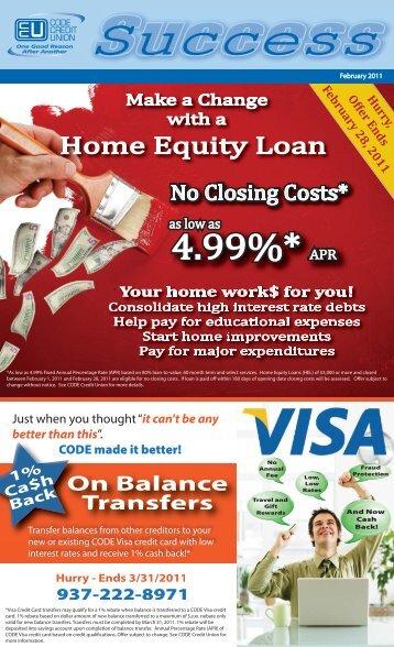 4.99%* APR 4.99%* APR - CODE Credit Union