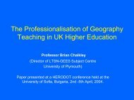 Professionalisation of UK Geography Teaching - HERODOT ...