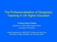 Professionalisation of UK Geography Teaching - HERODOT ...