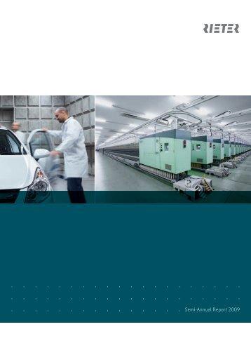 Semi-Annual Report 2009 - Rieter