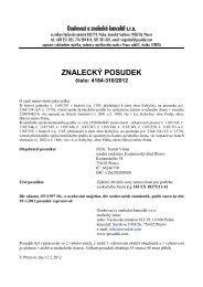 ZNALECKÝ POSUDEK číslo: 4164-310/2012 - OKdrazby.cz