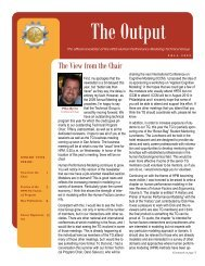 The Output Fall 2009 - Human Factors and Ergonomics Society