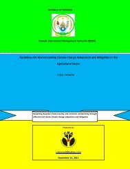 Guidelines for Mainstreaming Climate Change Adaptation ... - REMA