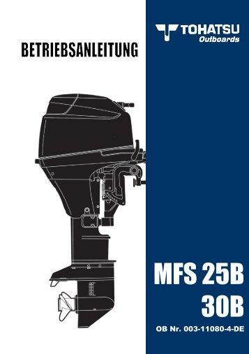 MFS 25B 30B - Tohatsu