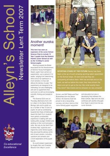 Lent 2007 - Alleyn's School