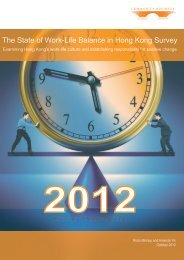 The State of Work-Life Balance in Hong Kong Survey - Community ...
