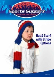 Hat & Scarf with Stripe Options - Spotlight Promotions