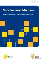 Smoke and mirrors: a review of the literature - Cancer Council NSW