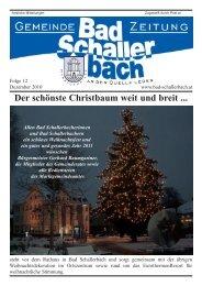 Der schönste Christbaum weit und breit - Gemeinde Bad Schallerbach