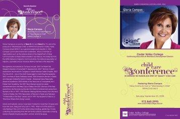 Child Care Conf. Brochure[06-26-08] - Cedar Valley College