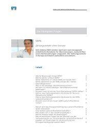 Die häufigsten Fragen SEPA - Augusta-Bank eG Raiffeisen-Volksbank