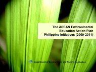 The ASEAN Environmental Education Action Plan Philippine ...