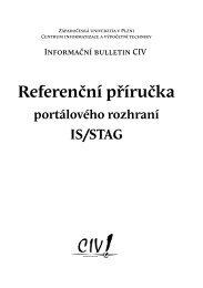Referenční příručka portálového rozhraní - Informační systém ...