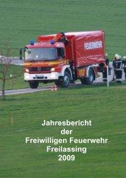 Jahresbericht der Freiwilligen Feuerwehr Freilassing 2009