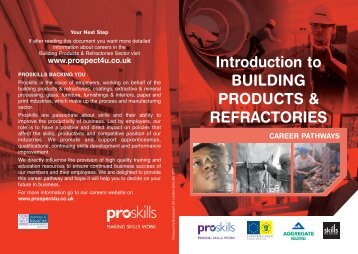 Introduction to BUILDING PRODUCTS & REFRACTORIES - Proskills