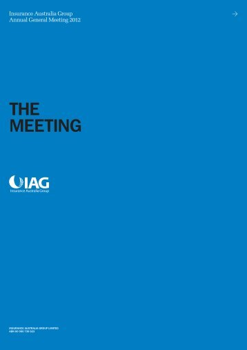 the meetInG - IAG