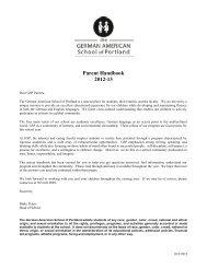 Parent Handbook 2012-13 - The German American School of Portland