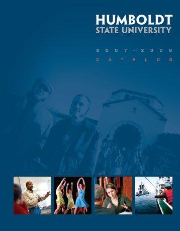 2007-08 Academic Year - Humboldt State University