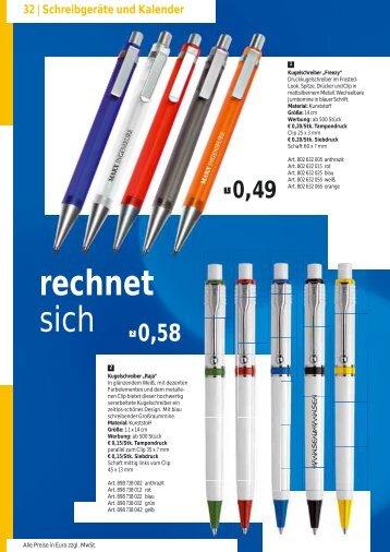 Schreibgeräte und Kalender - KonzeptD