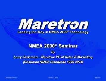 Annapolis Seminar - Maretron