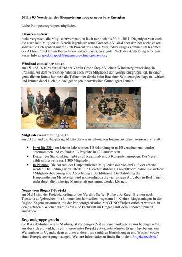 111107_Newsletter_2011-03 1 - Ingenieure ohne Grenzen