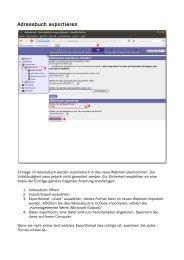 Adressbuch exportieren
