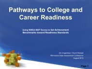 Pathways to College and Career Readiness presentation